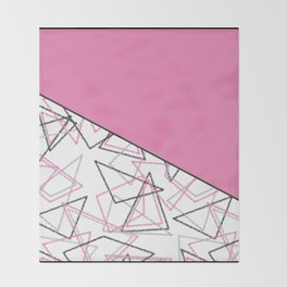 Abstract pink combo pattern . Throw Blanket