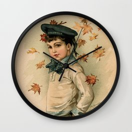 American Boy Maud Humphrey 1891 Wall Clock