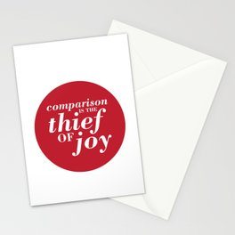 05. Comparison is the thief of joy Stationery Cards