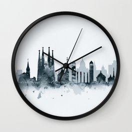 Barcelona Skyline Wall Clock