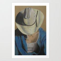 Bobby The Cowboy Art Print