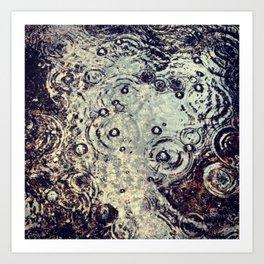 Rain Bubbles Art Print