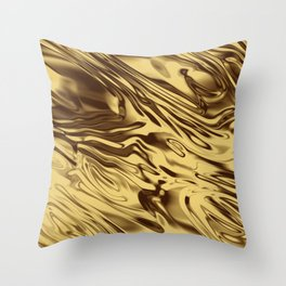 Gold Silk Throw Pillow