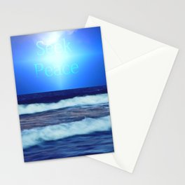 Seek Peace Stationery Cards