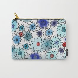 Fleur bleue Carry-All Pouch