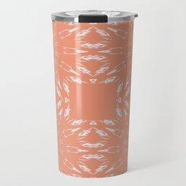 Peach Color Burst Travel Mug