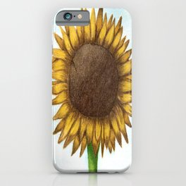 The Colored Pencil Sunflower Drawing iPhone Case