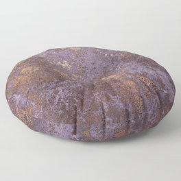 Purple and Copper Glamour Ink  Marble Texture Floor Pillow