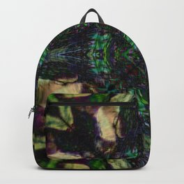Tree stump stain glass reflection Backpack
