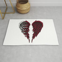 Qatar wings art Rug