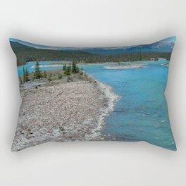 Athabasca River Photography Print Rectangular Pillow