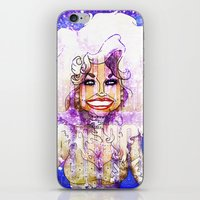 dolly parton iPhone & iPod Skins featuring DOLLY PARTON by Jessica Dudfield