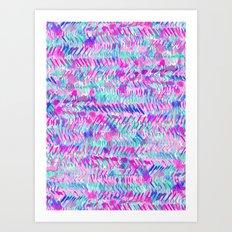 Fervor (Turquoise)  Art Print