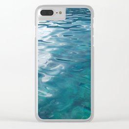 BLUE SEA Clear iPhone Case