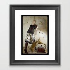 HMV Framed Art Print