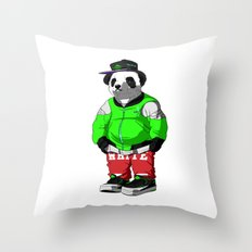 Cool Panda Throw Pillow