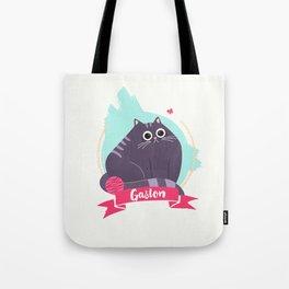 Gaston the moody cat Tote Bag