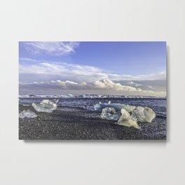 Jokulsarlon Lagoon Beach 05 Metal Print