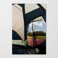 camping Canvas Prints featuring Camping by Jessica Krzywicki