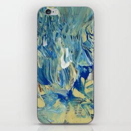Blue Wave Waterfall iPhone Skin