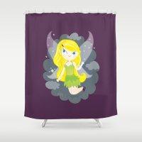 fairy Shower Curtains featuring Fairy by Maria Jose Da Luz