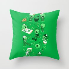 Lawn of the dead Throw Pillow