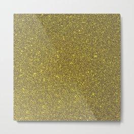 Golden Glitter Metal Print