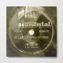 Waltz - Vintage Vinyl Metal Print