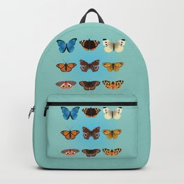 A collection of nine butterflies Backpack