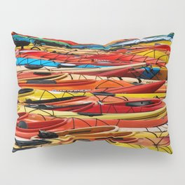 Several different color of Kayaks Pillow Sham