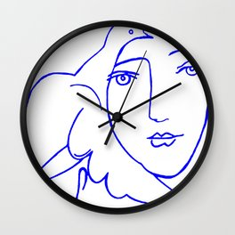 Dove Face by Picasso Wall Clock