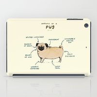 anatomy iPad Cases featuring Anatomy of a Pug by Sophie Corrigan