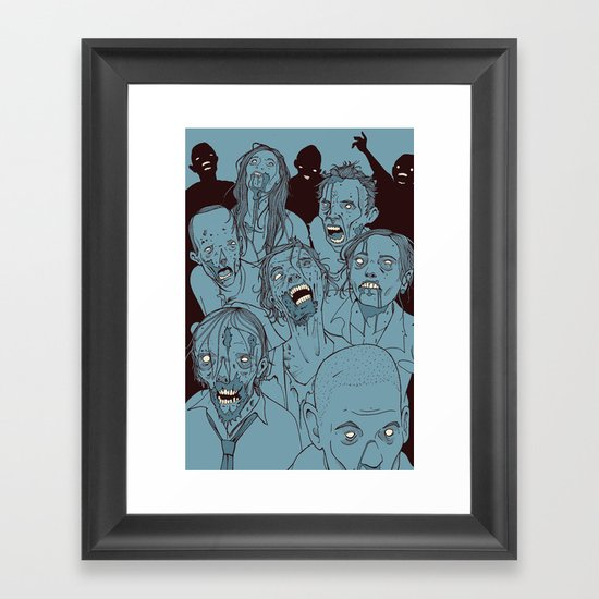Everyone you know is dead Framed Art Print
