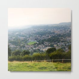 Matlock from the castle Metal Print