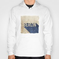 berlin Hoodies featuring Berlin by Barbo's Art