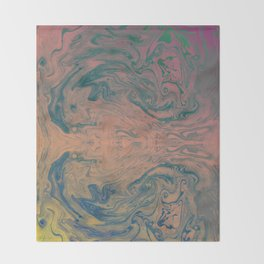 Pink Neon Marble - Earth Gum #nature #planet #marble Throw Blanket