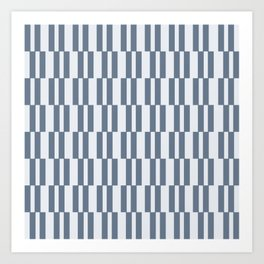 Matera Blue Stripe Art Print