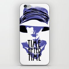 Time After Time Bleu iPhone & iPod Skin