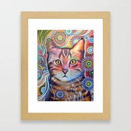 Olivia ... abstract pet animal cat kitty art Framed Art Print