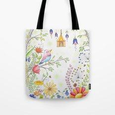 garden and bird Tote Bag