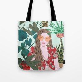 Tropical Girl Tote Bag