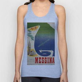 Messina port of Sicily Unisex Tank Top