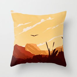 West Texas Landscape Throw Pillow