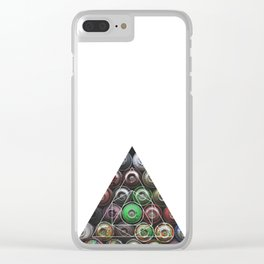 Graffiti Spray Cans - Geometric Photography Clear iPhone Case