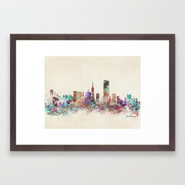 San Francisco city Framed Art Print