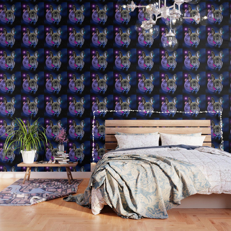 dog french bulldog and galaxy wallpaper
