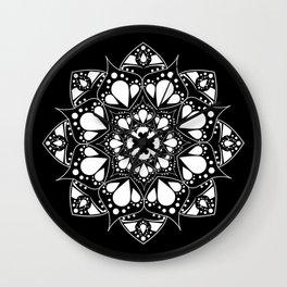 Mandala Black and White Magic Wall Clock