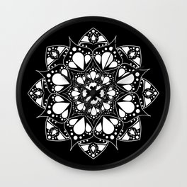 Mandala Black and White Magic Wall Clock