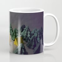 camp Mugs featuring camp by Chelsea Gass