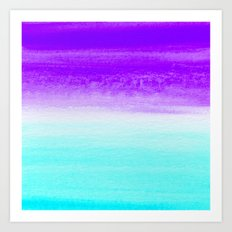 WHEN PURPLE MET BLUE Art Print